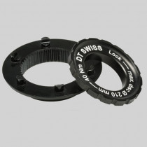 DT SWISS Spare Parts : Centerlock Adapter > 6 bolts (axle 15mm) Black (HWZXXX00s1416s)