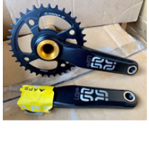E-THIRTEEN Chainset LG1+ 36T (83mm) 165mm w/o BB Black/Gold (CS20-LG1P.65K.8A0.36KN)