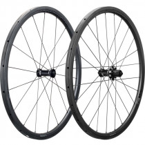 DEDA ELEMENTI Wheelset SL30 Carbon Tubular Polish On Black