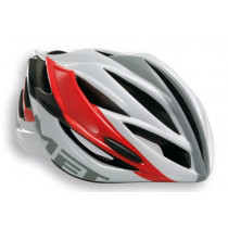 MET Casque FORTE Black/White/Red Taille M (MT3HELM84UNRS)