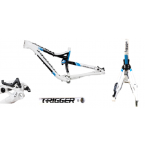 """CANNONDALE Cadre TRIGGER  SI 29"""" White/Blue Taille S (C17FM018)"""