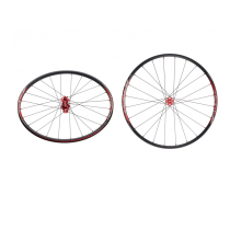 """ALERO Paire de roues WH-146C 27.5"""" Disc (9-15x100mm/ 9x135mm-12x142mm) Red/Red"""