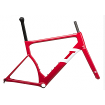 3T Cadre STRADA TEAM Disc Carbon Red/White + Fourche Taille S (6130BDAX13H)