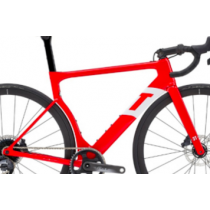 3T Cadre STRADA TEAM Disc Carbon Gloss Red/White + Fourche Taille XS (7130BDCR77H)