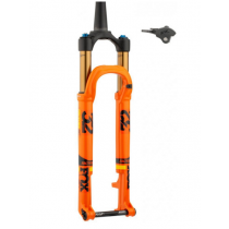 """FOX RACING SHOX 2020 Fourche 32 FLOAT SC 29"""" FACTORY 100mm FIT4 Kabolt 15x110mm Remote 2Pos Tapered Kashima Orange (910-20-731)"""