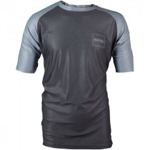 ROYAL Racing Jersey HERITAGE Short Sleeve Dark Blue / Gray Melange - L (0066-38-540)