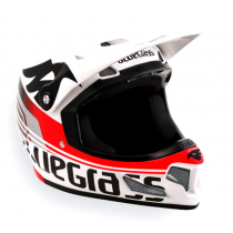 BLUEGRASS Casque BRAVE Size S White/Red Glossy (3HELG08S0WR)