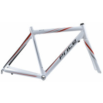 PRICE Cadre ROAD PRO Carbon Taille 55 White/Red/Silver + Fourche  (GPH21N12X55R)