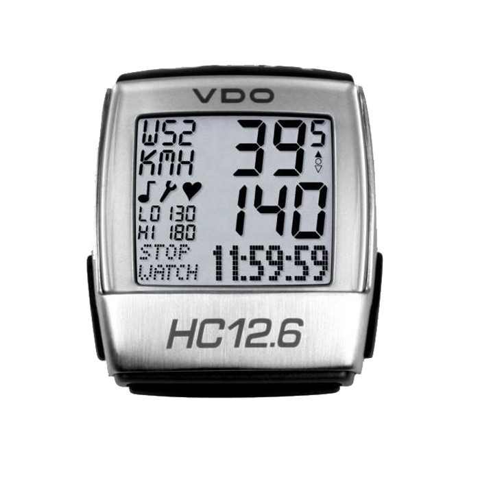 VDO Heart Rate Monitor Computer - HC 12.6