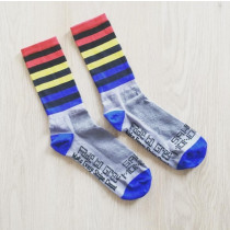 SAKO7 Socks MONDRIAN FADE TO GREY Size S