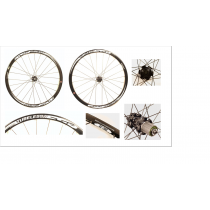 "FSA Wheelset  XC-500  26"" Tubless (20x100mm/ 9x135mm) Black"