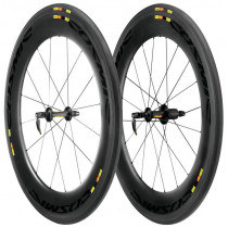 MAVIC Wheelset COSMIC Carbon 80 Tubular WTS M10 Black (M32800114)