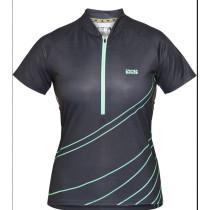 IXS Jersey Women's Trail 6.2 Black/Turquoise Size 38 (473-510-6751-190-38)