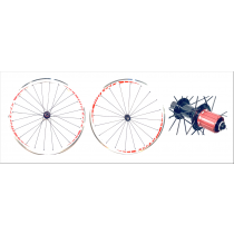 MATRIX Wheelset R300 700C (9x100mm / 9x130mm) White/Red