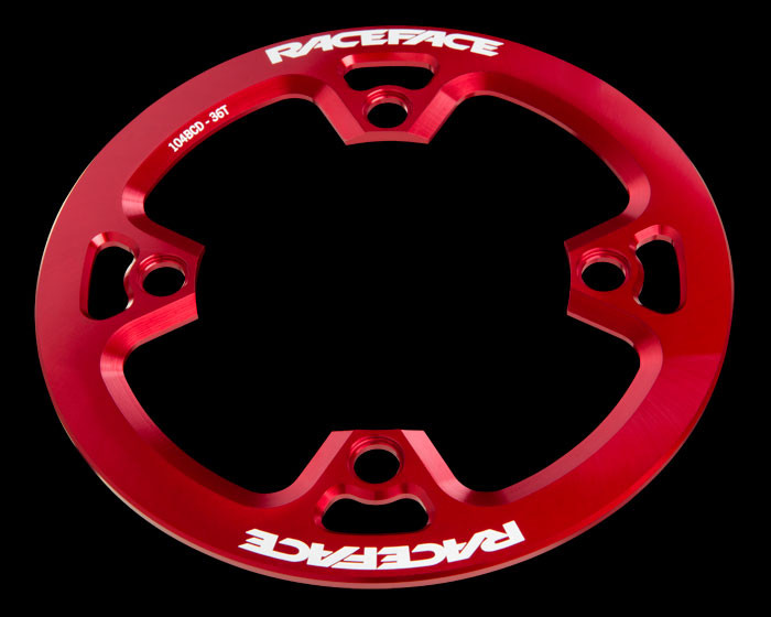 RACEFACE Protector de platos Bashguard Light  - 4 agujeros - 36t - Rojo