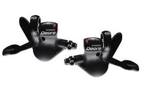 SHIMANO Par de mandos de cambio Deore M530- 9 velocidades - Negro