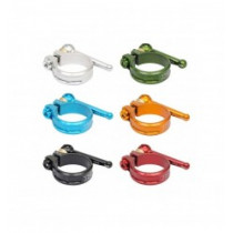 KCNC MTB Seat Clamp SC10 Alloy QR 38.2mm Green (KCABSC1089VD)