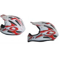 SHOCK THERAPY Helmet Full Face AIRTIME Composite White/Red Size M (80092/A/M)