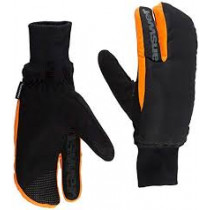 ANSWER Pair Gloves Sleestak Winter Mitt Black/Orange Size XL  (30-25276-F044)