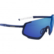 SWISS EYE Sunglasses ICONIC 3.0 Dark Blue Matt / White - Smoke BW Revo (12732)