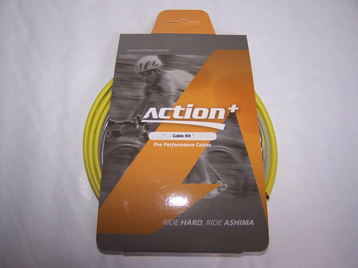ASHIMA MTB/ROAD Cable kit - Action+ - Derailleur - Yellow