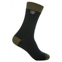 DexShell Socks Thermlite Merino Wool Black/Olive Size XL (DS626O_XL)