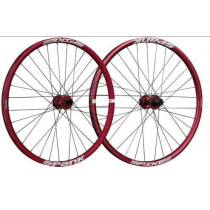 "SPANK Wheelset SPIKE RACE 28 27.5"" Disc (20x110mm / 12x150mm) Red (C08SR282240ASPK)"