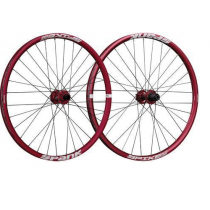 "SPANK Wheelset SPIKE RACE 28 27.5"" Disc (20x110mm / 12x135mm) Red (C08SR282140ASPK)"