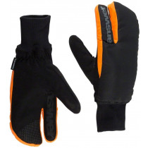 ANSWER Pair Gloves Sleestak Winter Mitt Black/Orange Size M (30-25276-F042)