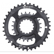 E-THIRTEEN Chainring Shiftring Set 22-36T Direct Mount Black (CR.22-36.K.DIRECT)