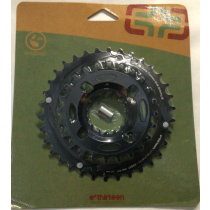 E-THIRTEEN Chainring Shiftring 24-34T Black (CR2UNA-107)