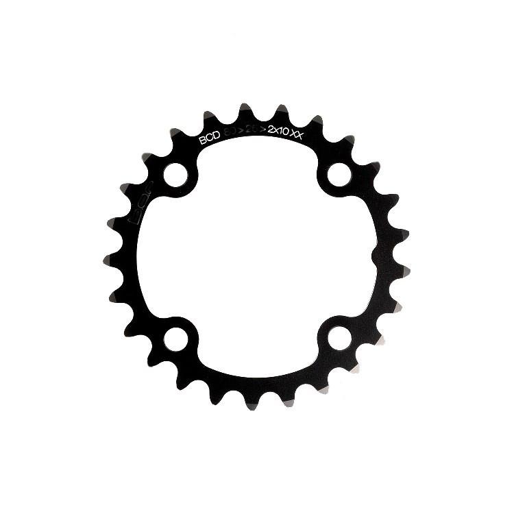 B.O.R Chainring MTB 24t 2x10XX BCD 104/64mm Black (07401.04.01.24)