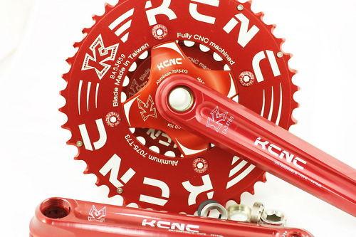 KCNC Crankset K2-Type XC - 27/42 - 172.5mm Red