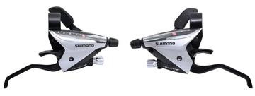 SHIMANO Shifter/Brake Levers Set - ST-EF65 - 3x9 - Silver