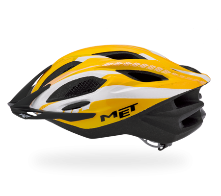 MET Helmet Xilo - Unisize (54 - 61cm) - Yellow/Black