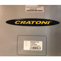 CRATONI Helmet INTERCEPTOR Black/White Matt Size L (04230374)