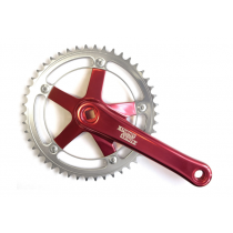 STURMEY ARCHER Chainset 46T 170mm Square w/o BB Polished Red (FCT66RA-RED-BOX)