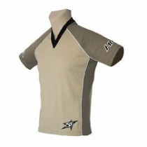 SHOCK THERAPY Jersey Hardride News Generation Brown/Khaki Size S (80105-BK-S)