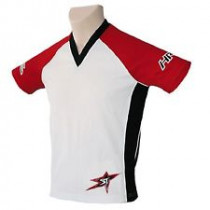 SHOCK THERAPY Jersey Hardride News Generation Red/White/Black Size L (80105-RWB-L)