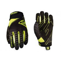FIVE Pairs Gloves RACE Fluo Yellow Size L (C0517016510)