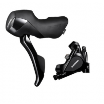 SHIMANO REAR Disc Brake/Lever RS-505 Flat Mount 140mm w/o disc (L.1400mm)  Black (KRS505JRRDRX140)