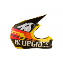 BLUEGRASS Helmet BRAVE Size S  Black Shaded /Red Yellow Matt  (3HELG08S0RB)