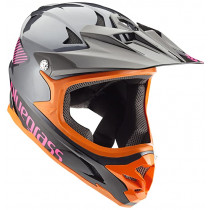 BLUEGRASS Helmet INTOX Size XL Grey/Orange/Purple (3HELG09XLNE)
