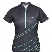 IXS Jersey Women's Trail 6.2 Black/Turquoise Size 40 (473-510-6751-190-40)