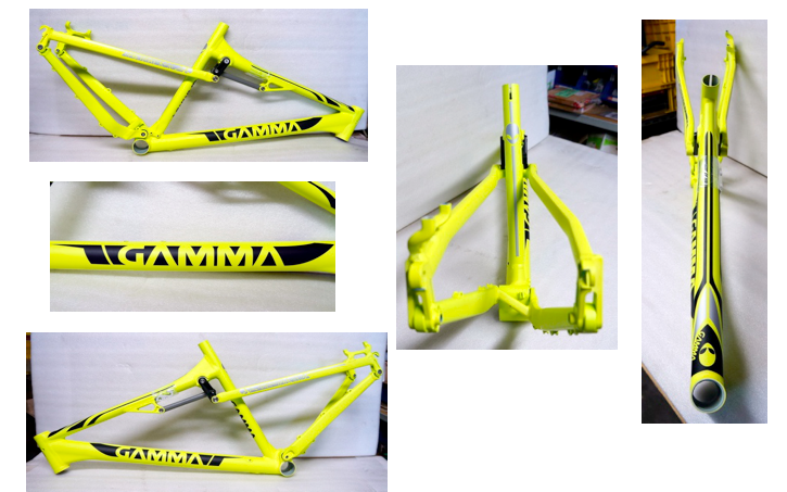 "GAMMA Frame Full Suspension 26"" Matt Yellow Size M"