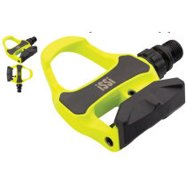 ISSI Pair ROAD Pedals Carbon Hi-Vis Yellow (PD5413)