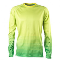 YETI Men's Jersey ALDER Long Sleeve Lime / Green Flash Ombre Size L (A2617609.L)