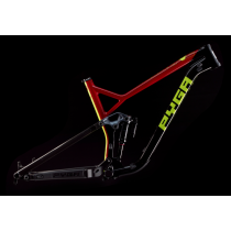 "PYGA Frameset SLAKLINE Carbon 27.5"" + Rear Shock Size L Red"