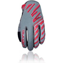 FIVE Pairs Gloves Enduro Air  Grey/Red  Size S  (C0317020808)