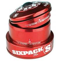 SIXPACK-RACING Headset FIRE Tapered Anod Red (811014)